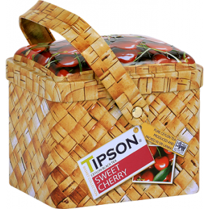 Чай Tipson Лукошко-ВИШНЯ И ЧЕРЕШНЯ/Basket - SWEET CHERRY, 80г