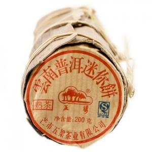 Чай пуэр Мини Бин в бамбуке, Шу 20 х 10 г