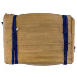 Чай Пуэр Плитка №2 в бамбуковом листе Синяя Лента, Шу 250 г