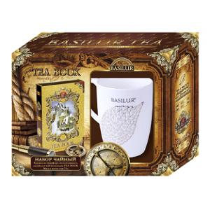 """Чайный набор BASILUR: Коллекция """"Чайная книга"""" в ассортименте и витражная кружка"""